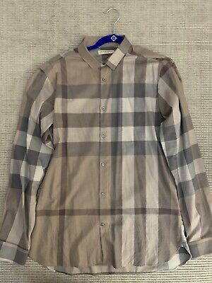 Burberry Mens Check Shirt - Size L