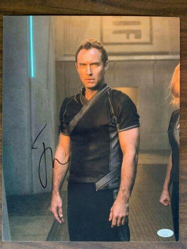 Captain Marvel Jude Law Autographed Signed 11x14 Photo JSA COA
