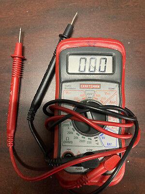 Craftsman 8 Function Digital Multimeter Voltage Meter Electrical Tester 82141