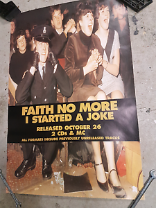 Faith no more promo poster album release poster, vintage music Castle Hill The Hills District Preview
