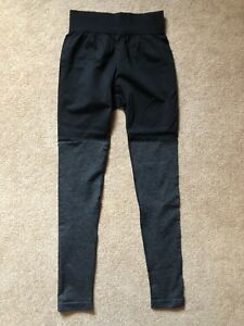 Gymshark Black and Grey Block Legging