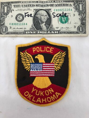 Rare Yukon Oklahoma Police Dept. Patch Un-sewn in Mint shape (hard to find)