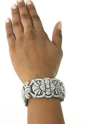 925 sterling silver bracelet cz Vintage Style Bracelet Cocktail Party -  Royale` 2