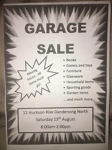 MOVING HOUSE GARAGE SALE Dandenong North Greater Dandenong Preview