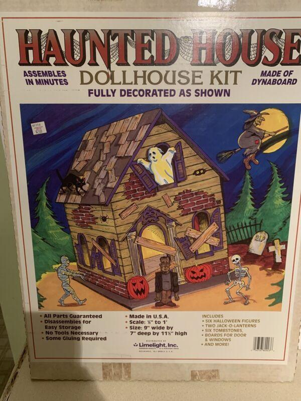 Vtg 1980's Halloween Haunted House Dollhouse Kit MIB  Limelight Inc Made In USA