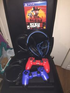 Ps4 + Headset + 2 Controllers + RDR2