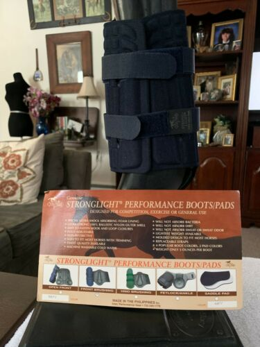 """NEW HORSE FLEX RIDER STRONGLIGHT PERFORMANCE FRONT BRUSHING BOOTS NAVY 11x9.5"""""""