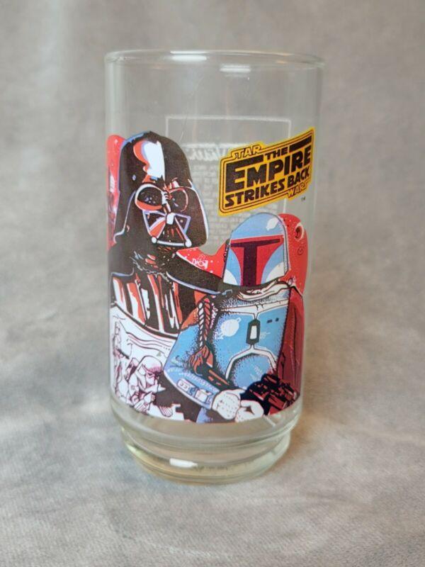Vintage 1980 Star Wars Empire Strikes Back Burger King Glass Darth Vader Drink