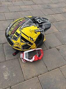 Fly racing ROCKSTAR helmet and Thor googles