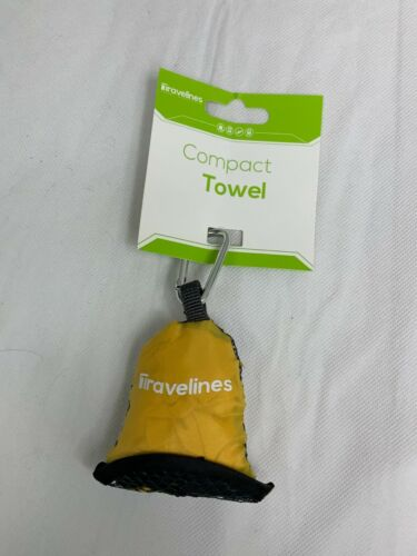 Travelines Towel Compact  Sports Camping & Travel Yellow