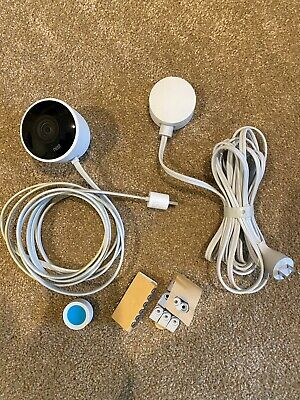 Google Nest Cam - Outdoor Security Camera NC2100ES bundled w/  brown vinyl cover