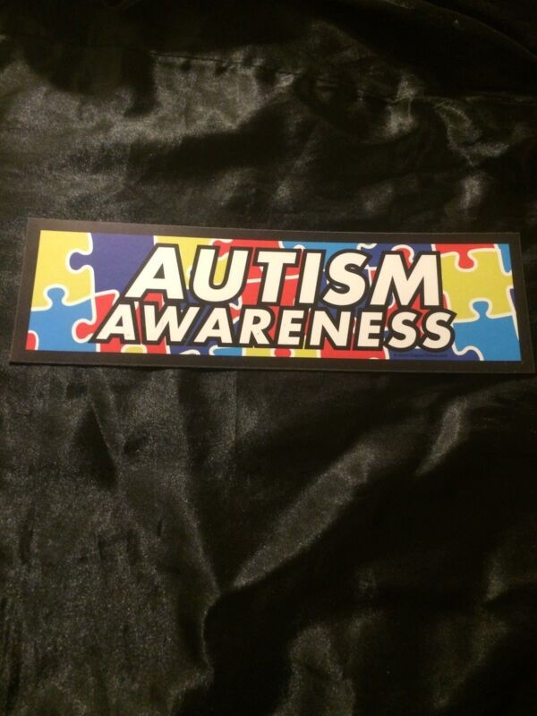 AUTISM AWARENESS LARGE MAGNET 10 X 3