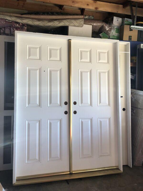 Local Pickup Only 60x78 Fiberglass Double Entry Door
