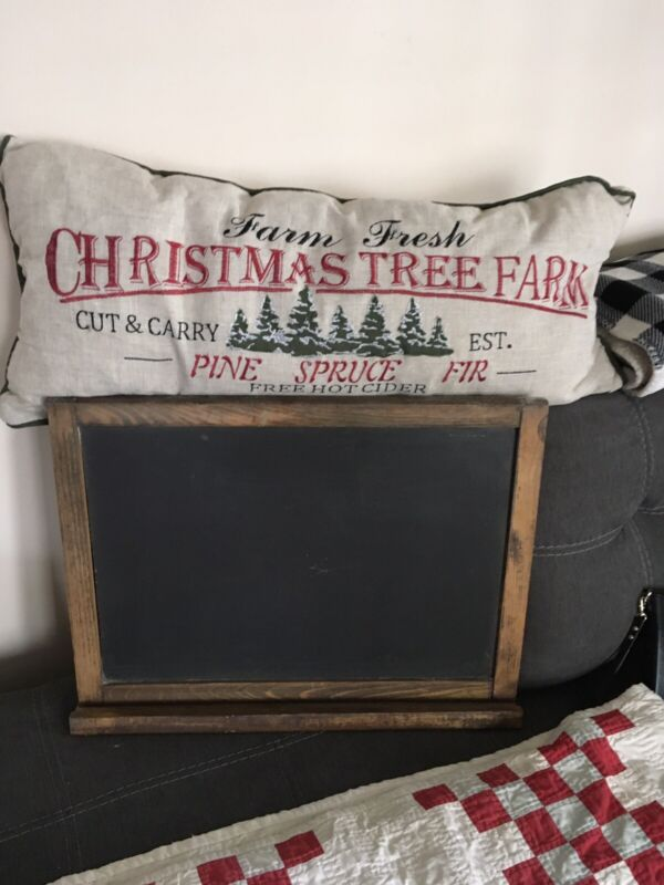 Vintage School NATURAL SLATE CO Hanging Chalkboard With Tray