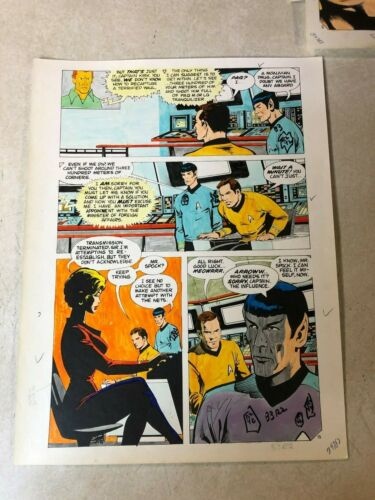 Star Trek original color guide ART1975 SPOCK Moauv KIRK meows blonde UHURA Waul