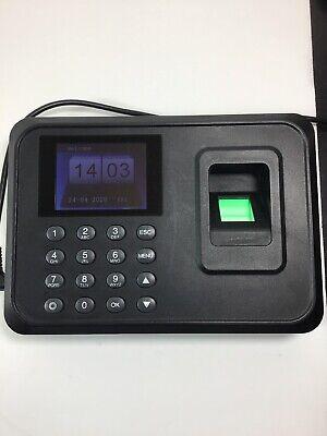 Check In Time Clock Fingerprint Biometric Password Attendance Machine Model A6