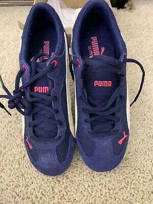 PUMA Womens Size 7 1/2 Fast Cat Sneakers OrthoLite Blue Pink Tennis Trainer Shoe
