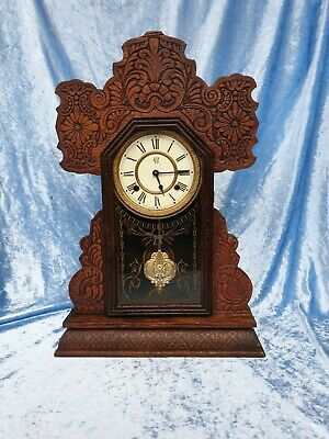 Waterbury Clock Gingerbread Kitchen Mantle Clock
