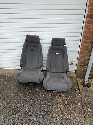 Mk2 Ford Granada grey Sport Recaro Seats in chatsworth fabric very rare
