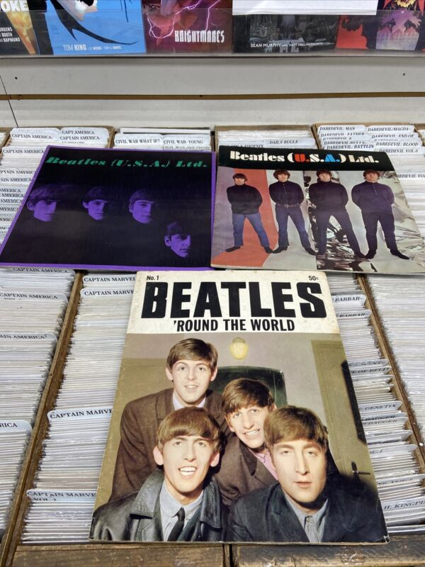 ORIGINAL Vintage 1966 Beatles USA Ltd Concert Tour Program LOT SEE PICS