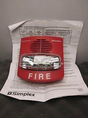 Simplex 4903-9425 Horn Strobe Av 15 Cd Red Standard Non-addressable