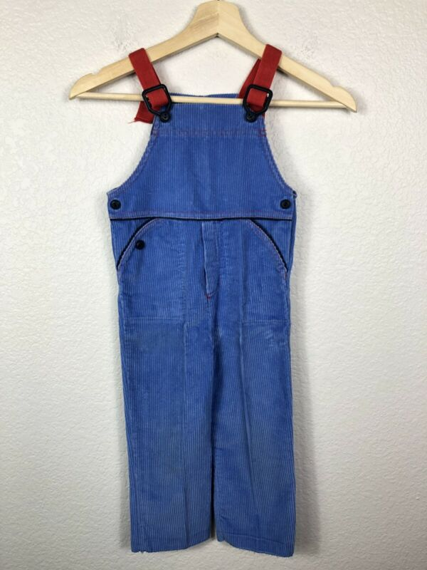 Vintage Carters Boys Curduroy Overalls Bib Overalls Baby Blue size 4T USA Made