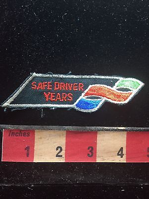 Trucker SAFE DRIVER YEARS Auto Related Patch 75X3