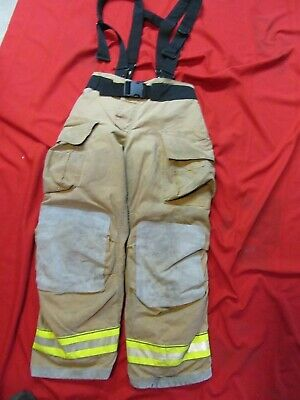 Mfg. 2011 Globe Gxtreme 34 X 36 Firefighter Turnout Bunker Pants Suspenders