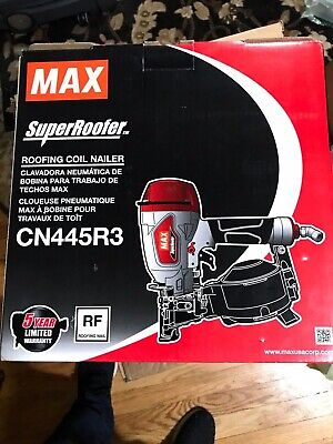 Max Cn445r3 Superroofer Roofing Coil Nailer Up To 1-34