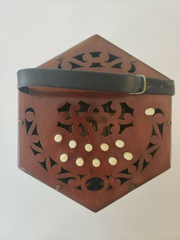 20 key C/G concertina early 20th century attributed to Tidder - Rare item