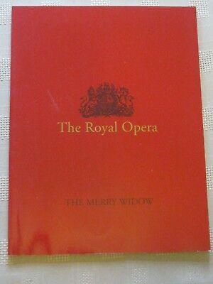 Royal Opera House Program / 24 OCT 1997 / THE MERRY WIDDOW / DIETFRIED BERNET