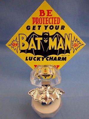 "1966 VINTAGE...""RARE SILVER BATMAN BAT RING"" - L@@K -  BATMAN LUCKY CHARM & SIGN"
