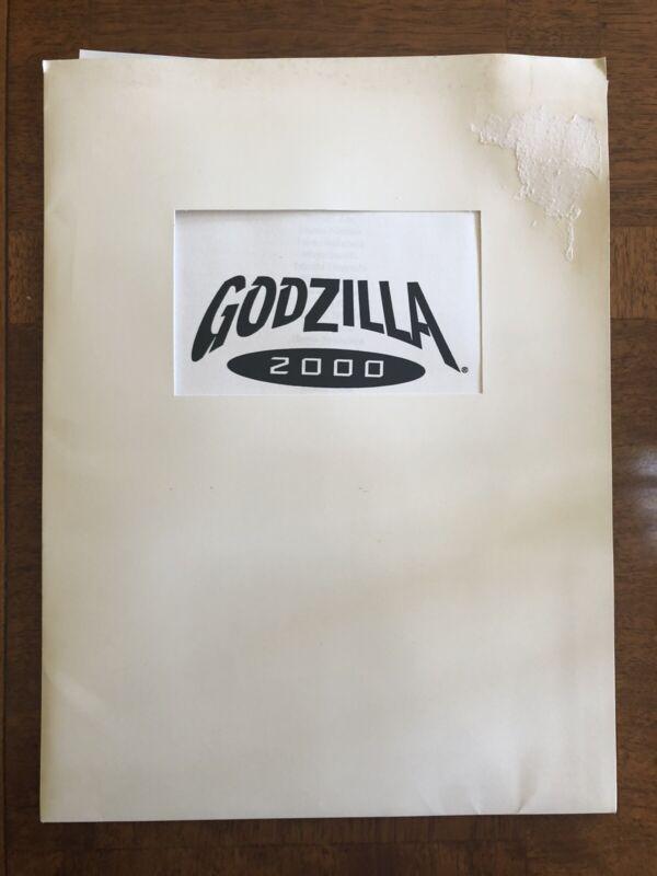 GODZILLA 2000 MOVIE PRESS KIT  With 8  Color Slides