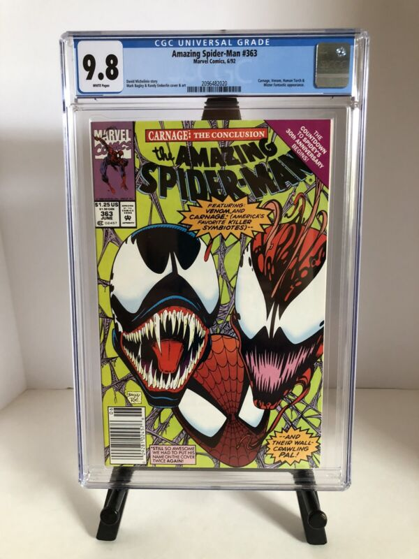 Amazing Spider-Man #363 CGC 9.8 Rare NEWSSTAND. White Pages (Read Description)