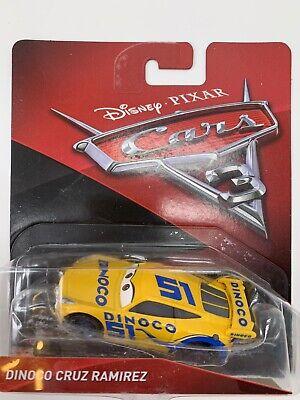 Disney Pixar Mattel Cars 3 Die-Cast Lightning Dinoco Cruz Ramirez