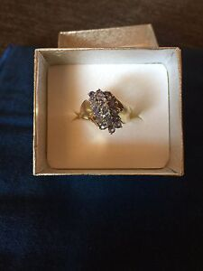 10ct solid gold with natural tanzanite stones Englorie Park Campbelltown Area Preview