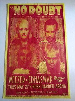 No Doubt w/ Weezer and Ednas Swap 1997 Original Vintage Concert Poster