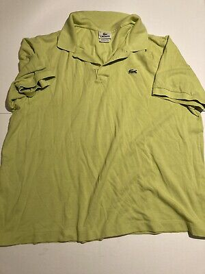 Lacoste Light Green Polo Shirt Men's Size 8 ( XL/2XL See Measurements )