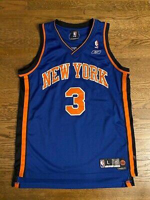 New York Knicks Stephon Marbury Swingman Jersey Large Reebok NBA Stitched