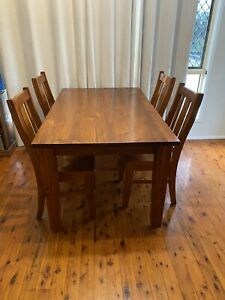 Wooden Solid Timber 6 Seater Dining Table