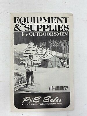 1972 P&S Sales Catalog Equipment & Supplies For Outdoorsmen Tulsa OK