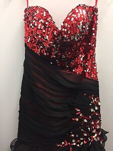 Red/Black Sequin Mermaid Dress