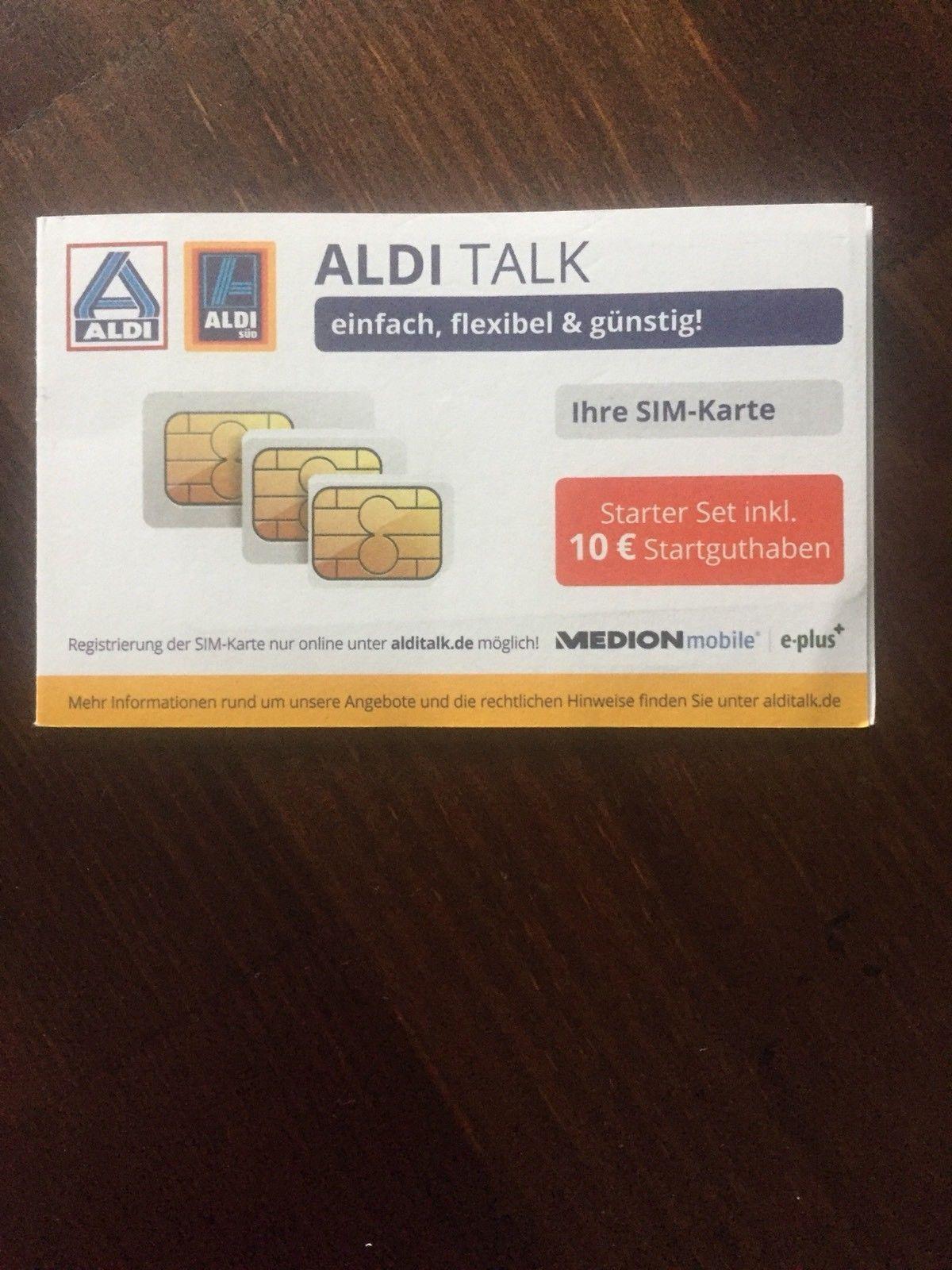 Sim Karte Aldi.Aldi Talk Starter Set Sim Karten Kartenleser