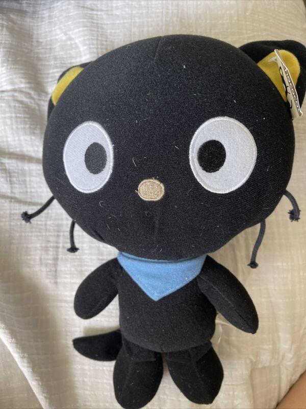 "Fiesta Chococat 10.5"" Plush 2011 Sanrio Black Cat Stuffed Animal Toy New w/Tag"