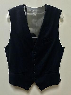 Marc Jacobs Medium 100% Wool Navy Men Suit Waist Belt Buttons Outwear Vest Top