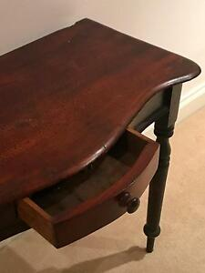 Antique solid Australian timber side table Moonee Ponds Moonee Valley Preview