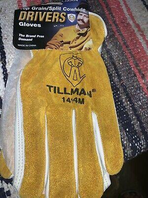 Tillman 1414 Top Grainsplit Cowhide Drivers Gloves Medium