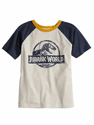 Jumping Beans Kids Boys Jurassic World Logo Distressed Raglan T-Shirt Distressed Logo Kids T-shirt