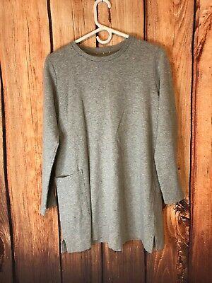 Eileen Fisher Organic Cotton Oversized Sweatshirt W/POCKET Sz Small