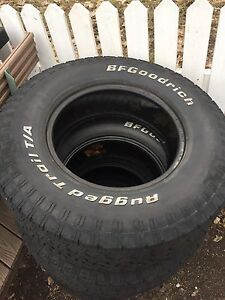 BF Goodrich All Terrain Tires  50 000 kms